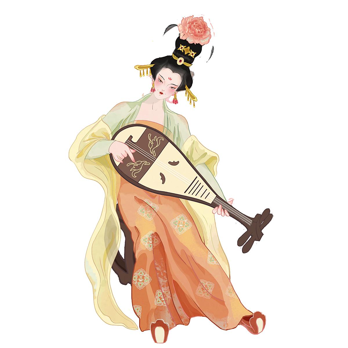 中国风-国潮古风女性人物插画4