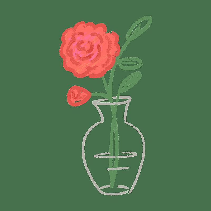 手绘-氛围花朵贴纸3-玫瑰花