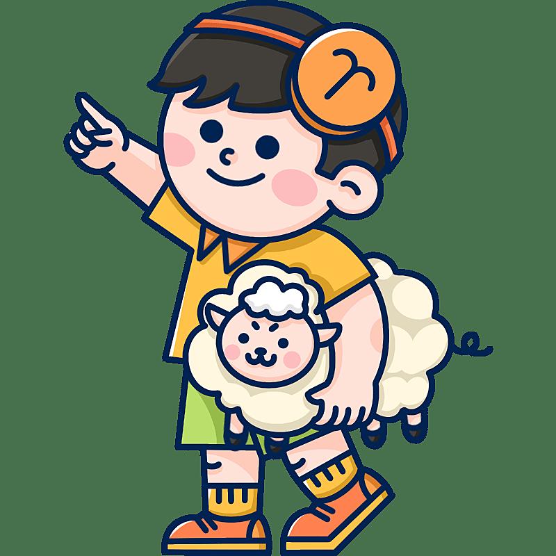 MBE风-十二星座幼儿插画-白羊座