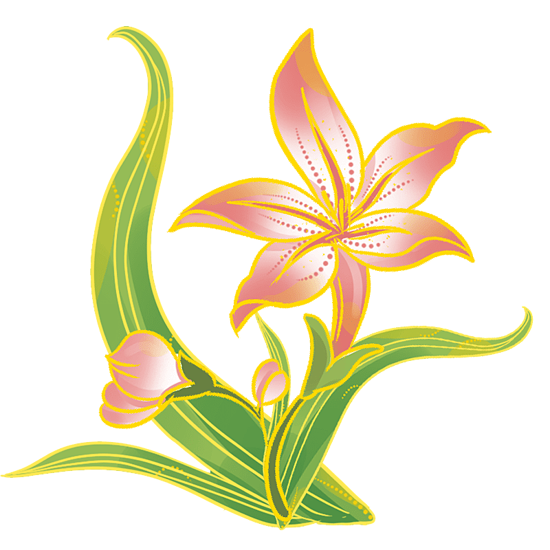 中国风-国潮植物元素贴纸-水仙