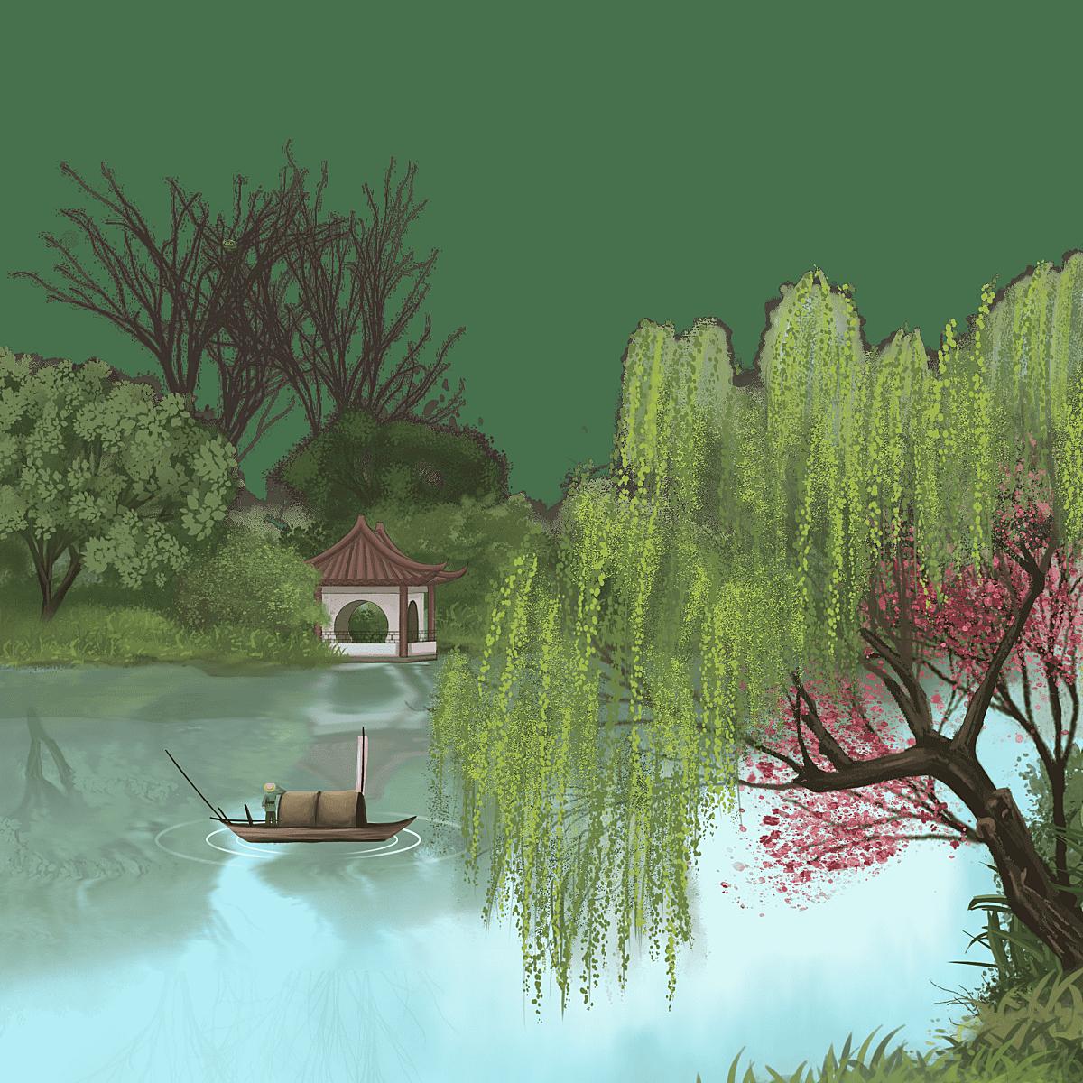 中国风-小桥流水场景-标准