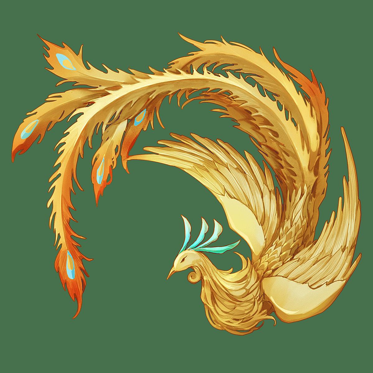 中国风-金色国潮动物元素-凤凰