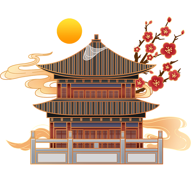 中国风-国潮建筑元素插画9