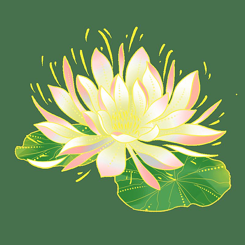 中国风-国潮植物元素贴纸-莲花
