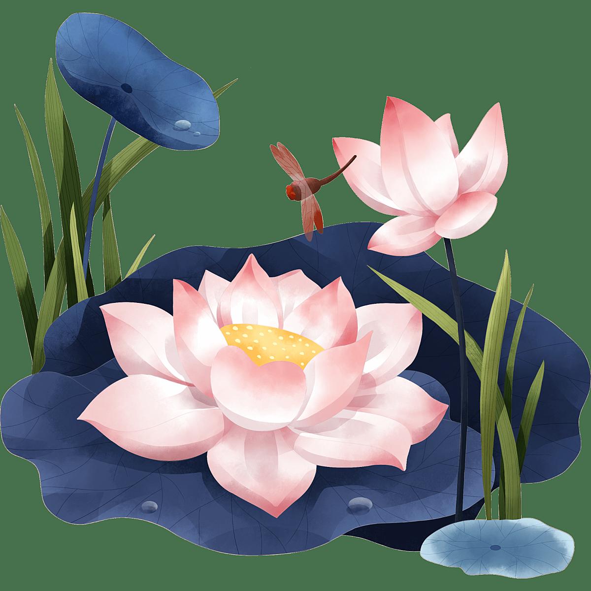中国风-国潮花卉场景贴纸2