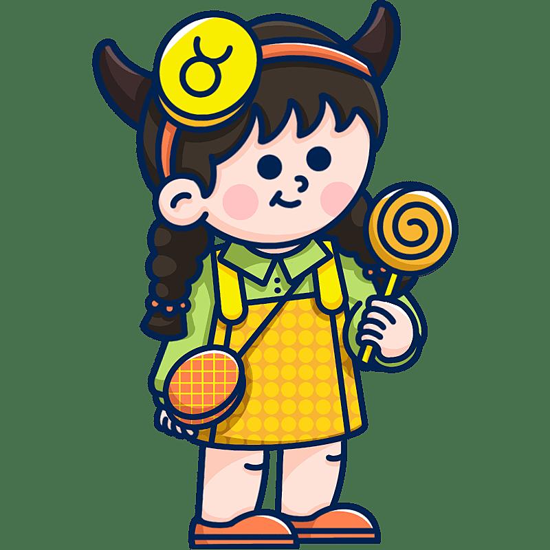 MBE风-十二星座幼儿插画-金牛座