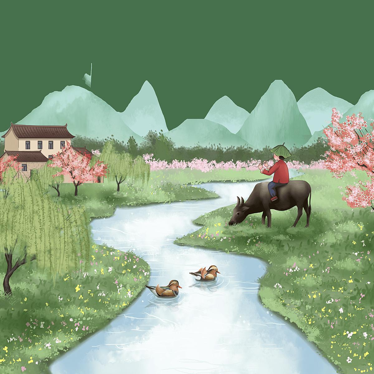 中国风-小桥流水场景