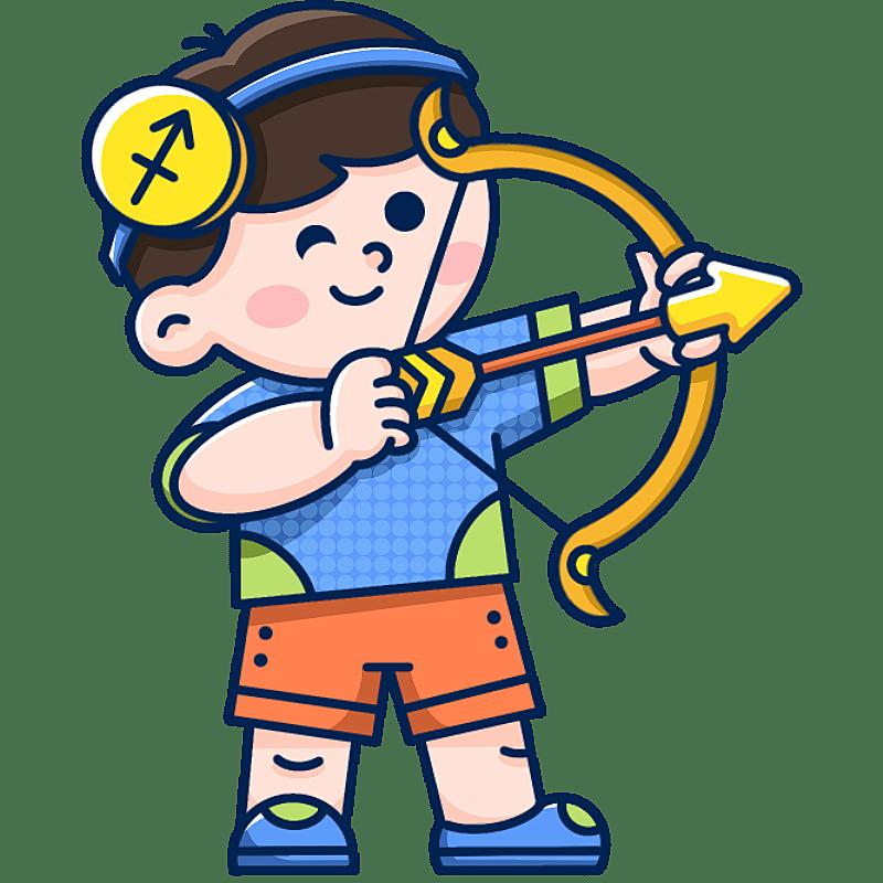 MBE风-十二星座幼儿插画-射手座